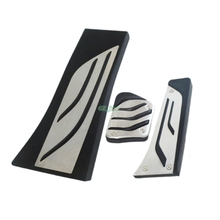 Stainless steel Gas Footrest Modify Pedal Plate Pad AT Accessory For BMW  X5 X6 Series E70 E71 E72 F15 F16 Car styling