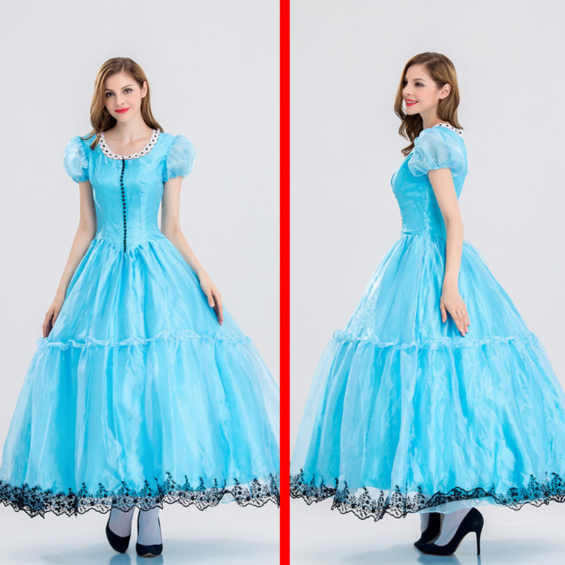 Alice in Wonderland Costume Lolita  Maid Cosplay Fantasia Carnival Halloween Costumes for Women princess Carnival fancy dress