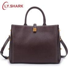 hot deal buy ly.shark genuine leather handbag shoulder bag female bags for women 2018 luxury handbags women bags designer crossbody bags
