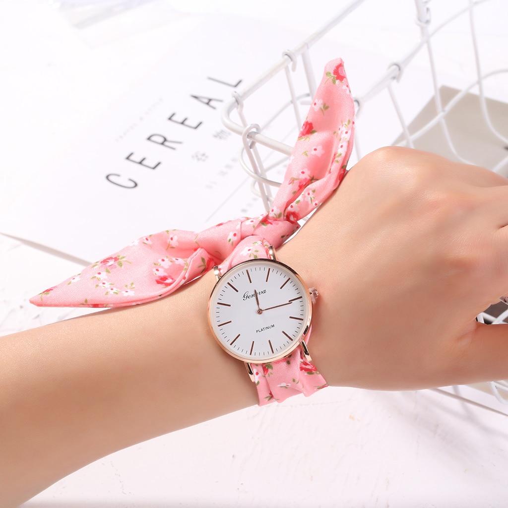 Drop Shipping Fashion Ladies Bracelet Watch Waterproof Rose Gold Cloth Belt Women Watches Top Brand Clock Relogio Feminino(China)