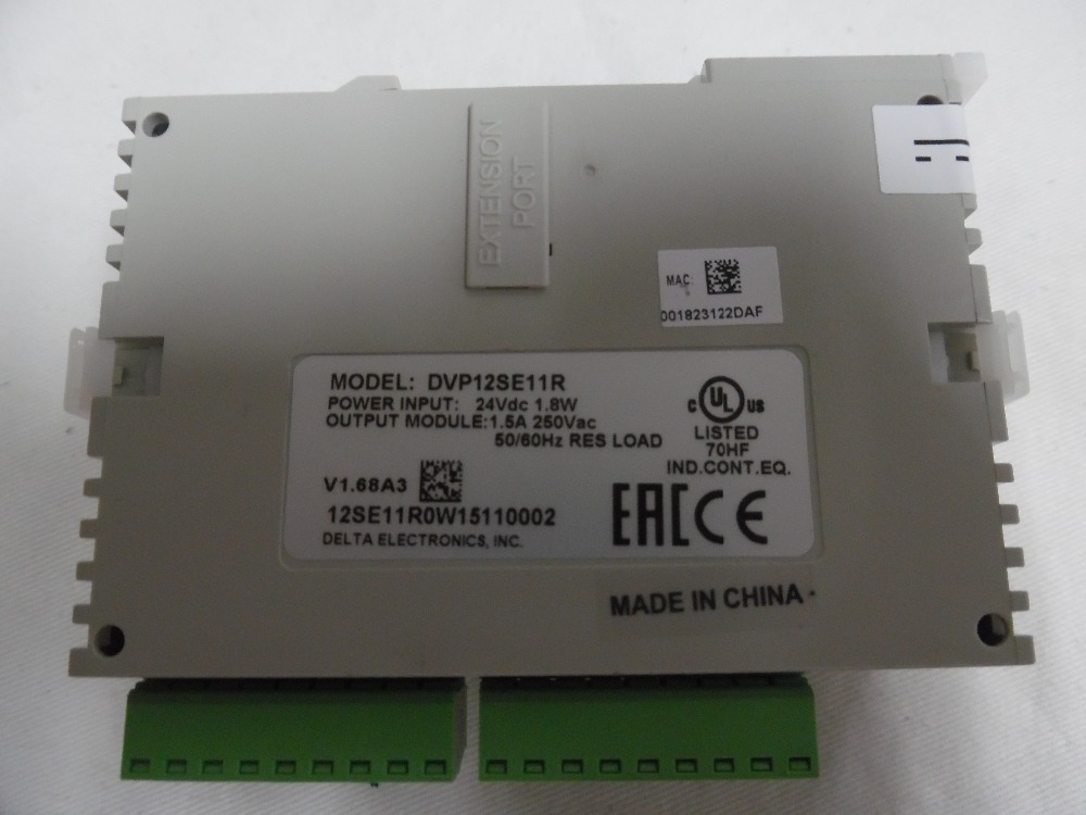 Delta PLC SE series DVP12SE11R DC 8DI 4DO (Relay) 3 COM (Mini USB/RS485x2/Ethernet ) New