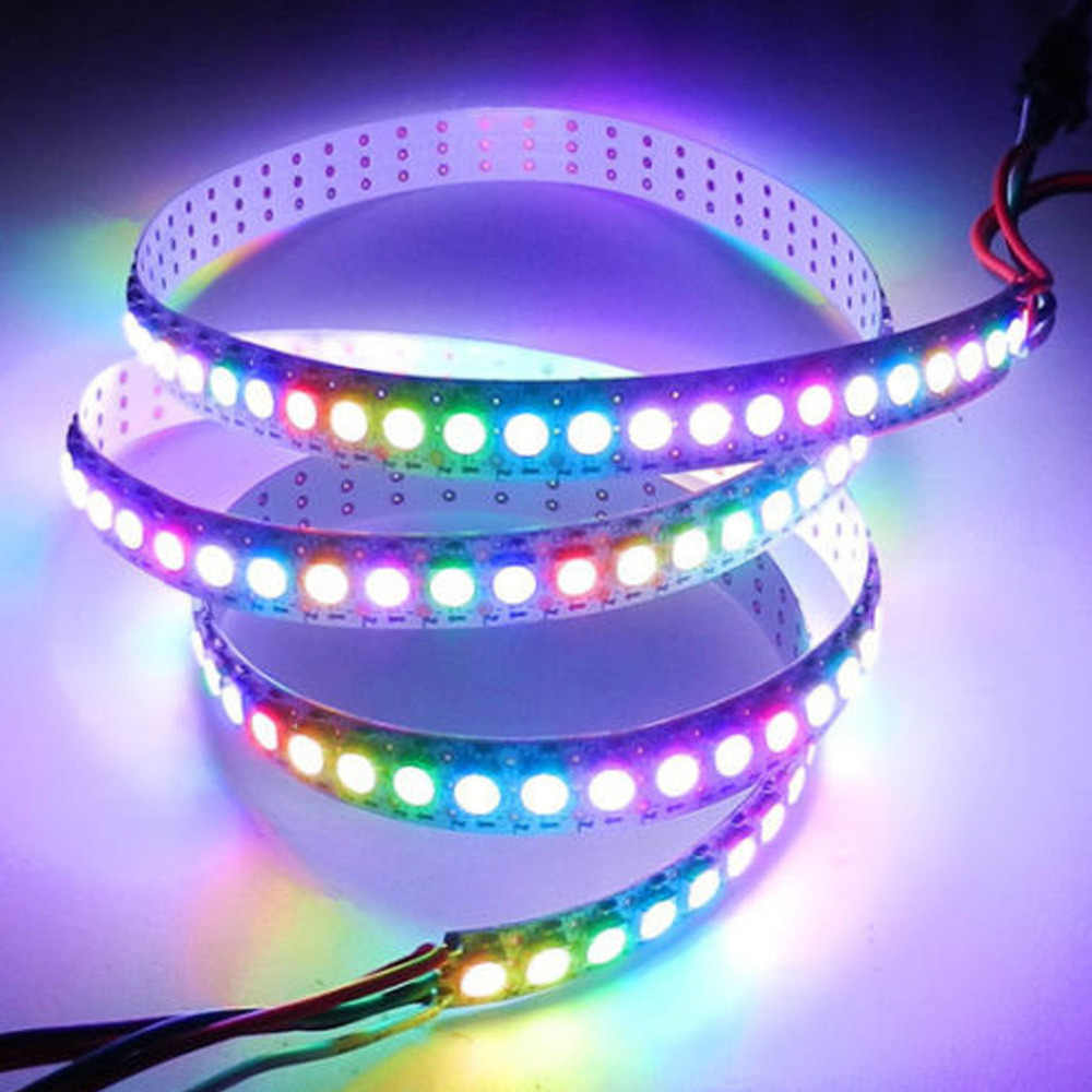 1 m/5 m WS2812B Smart led pasek pikseli, czarny/biały PCB, 30/60/144 diod/m WS2812 IC; WS2812B/M 30/60/144 pikseli, IP30/IP65/IP67 DC5V