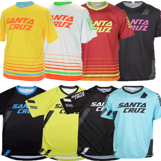 2018 Short Sleeve Downhill Jersey Mountain Bike T-shirt MTB DH Maillot Bicycle Shirt Uniform Cycling Clothing Motorcycle Clothes