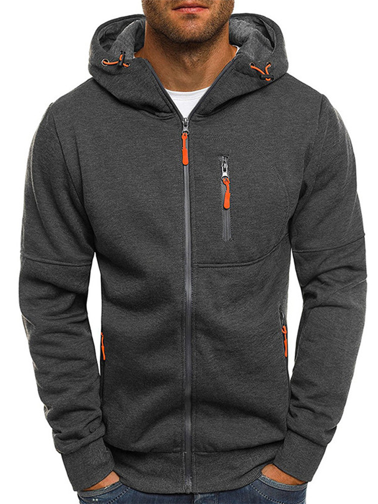 Covrlge Mens Clothing Jackets Sweatshirts Tracksuit Hooded Spring Zipper Outerwear Fashion