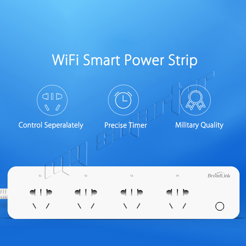 Original BroadLink Plug and play WiFi Power strip remote control available 4-Outlet Power Socket forSmart Home Automation System plug 4 outlet power strip