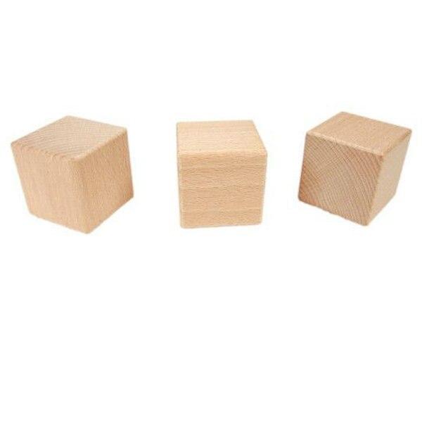 10 stks partij van 5 cm hout cube massief houten blokken bouwstenen vroeg educatief for Construction cube bois