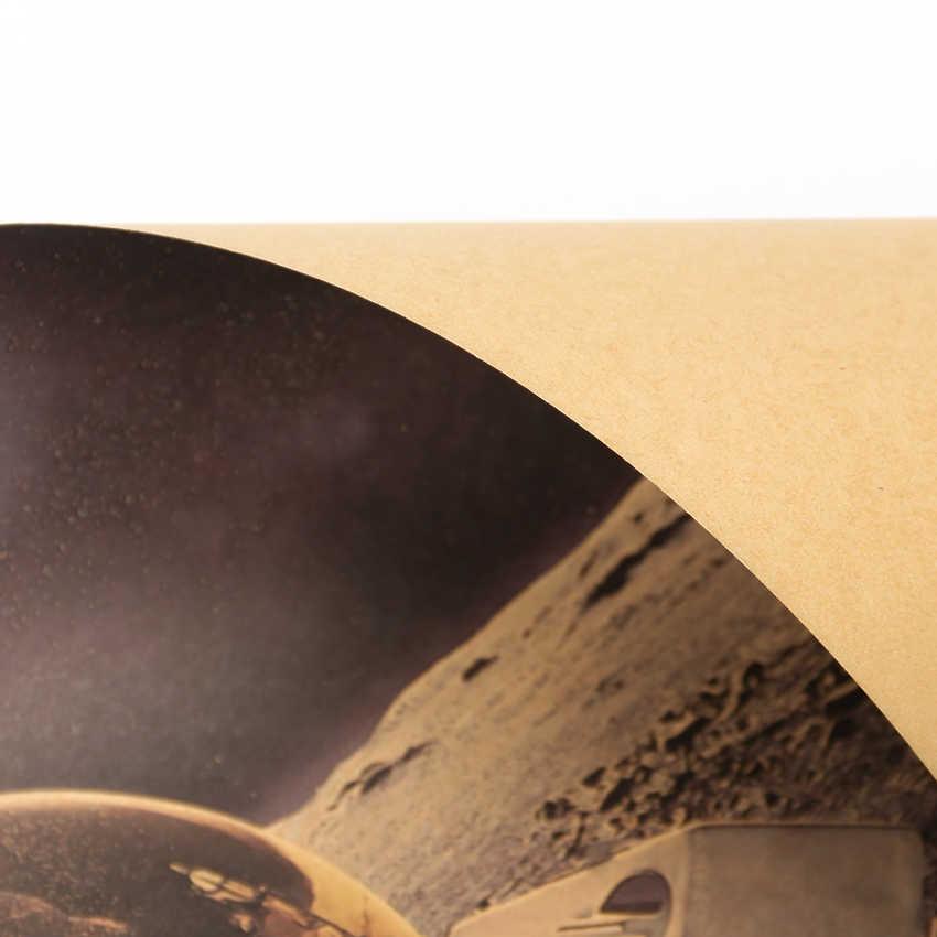 Dış Uzay Dünya Astronot Içecekler Duvar Sticker Rahatlatıcı Ay Iniş Fantezi Kraft Kağıt Afiş Ev duvar süsü Duvar Kağıdı