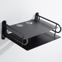 Enrutador Wifi inalámbrico negro, contenedor organizador de almacenamiento, cajas de TV, montaje en pared, soporte de estante, venta al por mayor