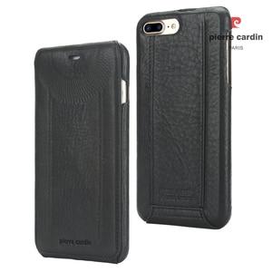 Image 4 - Original Pierre Cardin Phone Cases Bags For iPhone 7 8/ 8 Plus Cover Genuine Leather Vertical Flip Case For iPhone 8 7 Plus Case