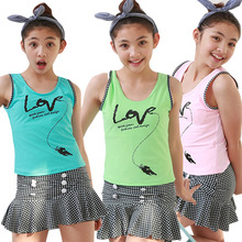 2016 New Sports Edition Childs Lovely Baseball skirt Style Split Type Swimsuits Best price