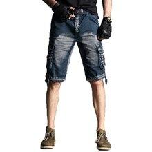 цены Men Shorts 2019 Summer Men Casual Camo Knee-length Mens Cargo Short Trousers Bermudas Hombre Shorts 40 Outdoor Leisure Pockets