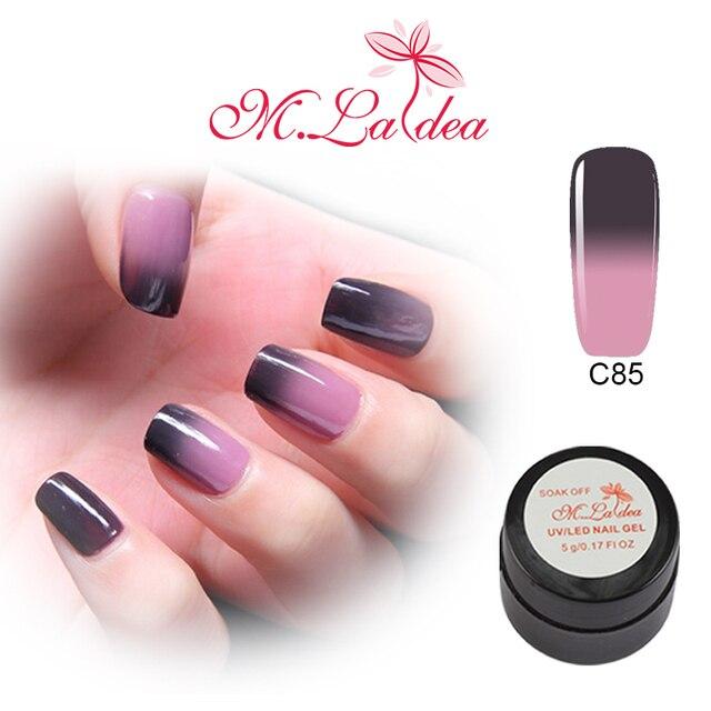 m.ladea 5ml gel polish thermo nail varnish 1 jar paintting UV&LED nail gel