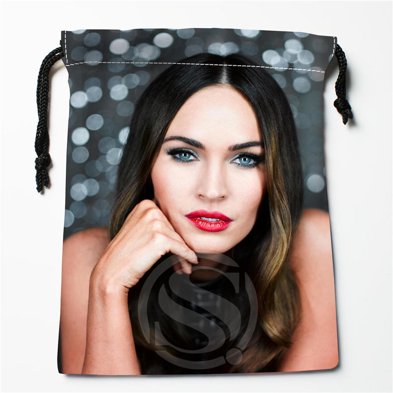 W-110 New Megan Fox 02 Custom Logo Printed  Receive Bag  Bag Compression Type Drawstring Bags Size 18X22cm E801wc110