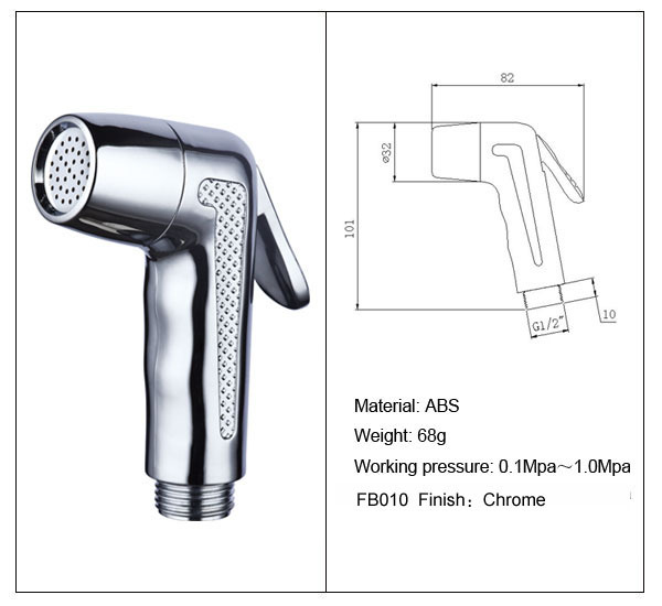 Bathroom ABS Chrome Hand Held Bidet Toilet Shattaf Kit Sprayer Shower Set G1 2 Brass T Adapter 15m Hose Aall Bracket In Bidets From Home