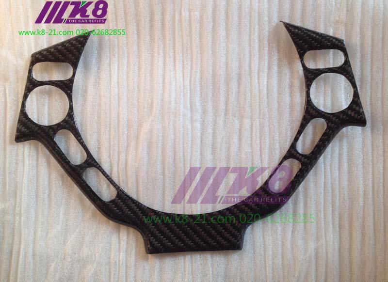 Carbon fiber steering wheel cover for Nissan R35