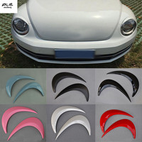 Free shipping 2pcs/lot ABS headlight lamps brow decoration cover for 2012 2018 Volkswagen VW beetle car accessories