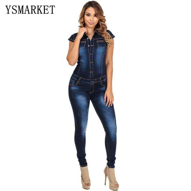 3b2870d765c YSMARKET elegant women denim jumpsuit long jean jumpsuit for women fashion  summer club girls jumpsuit female demin EW929