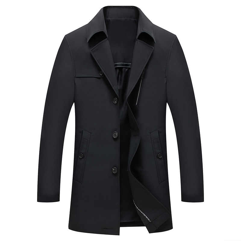 2019 סגנון חדש מעיל גברים של אופנה מעיל ותעלה מעיל mens עסקים קלאסי מעיל רוח זכר מעיל גברים גדול גודל m-4XL