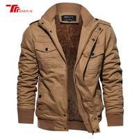 Military Pilot Jackets Men Winter Autumn Bomber Cotton Coat Tactical Army Jacket Male Casual Air Force Flight Jacket 9939