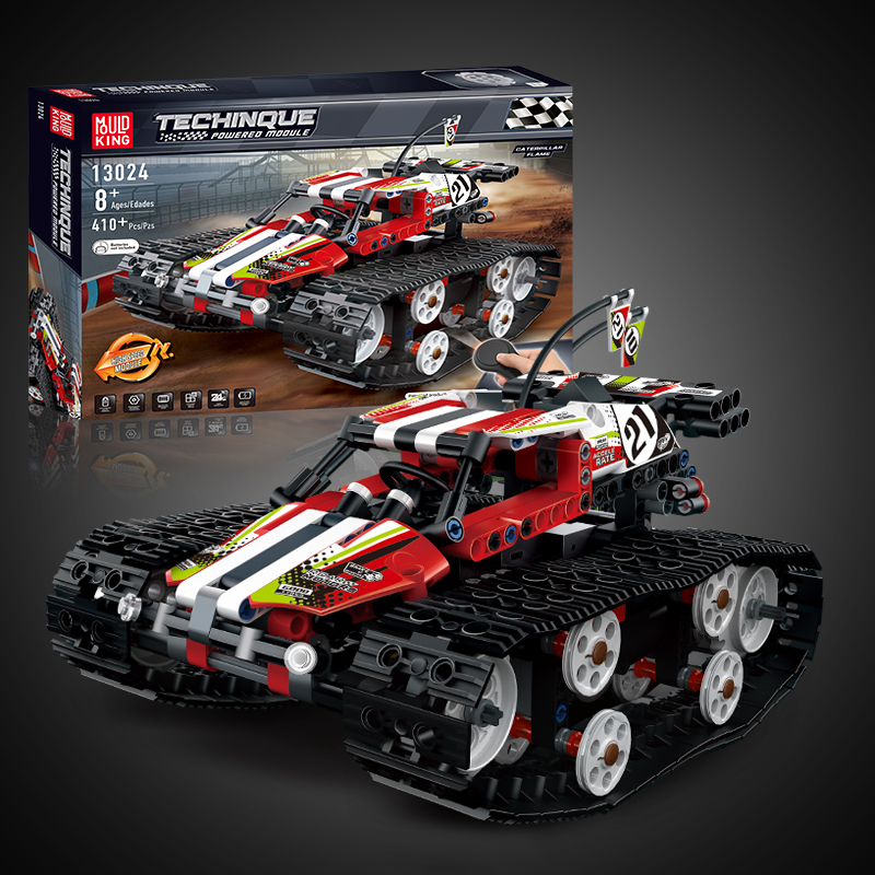 Technic RC Tracked Race Car Building Blocks Electric Motor Power Remote Control Function Bricks Car Toys