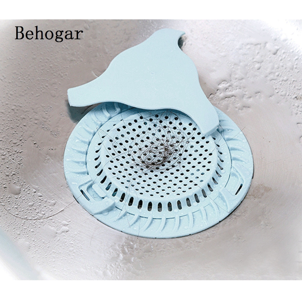 Behogar Dia 5.12inch Sink Strainer Floor Drain Cover Shower Hair ...