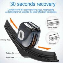 Universal Car Wiper Repair Tool Black Auto Windshield Rubber Strip Windscreen Blade Restorer Kit with Keychain