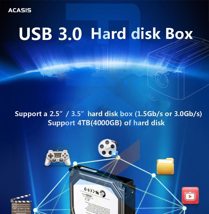 ACASIS BA-12US USB 3.0 SATA3 disque dur Station d'accueil pour 2.5 pouces ou 3.5 pouces HDD boîtier de clonage duplicateur - 6