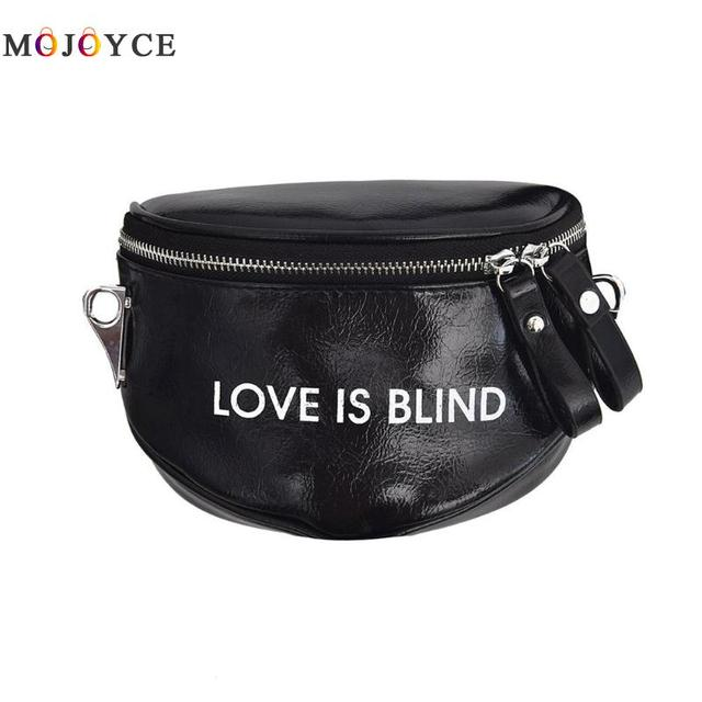 Women fanny Pack Letters Printed PU Leather Hobos Shoulder Pouch Waist Packs Belt Bag High Quality