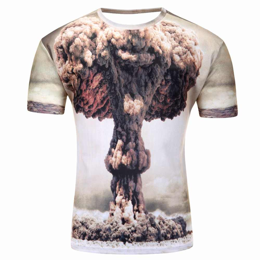 2019 капли воды мобильный 3D принт рубашка с короткими рукавами для мужчин футболка Harajuku Лето Грут Топы корректирующи