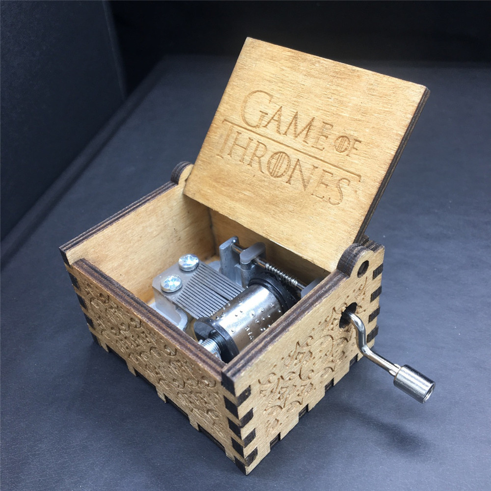 Game of Thrones Music Box /Beauty and the Beast / Moana/ war Christmas Gift Birthday Gift Antique Carved Wooden Collection Xmax