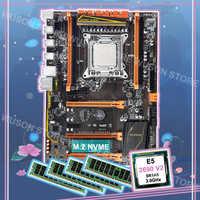 Brand new HUANAN ZHI deluxe discount X79 LGA2011 motherboard with M.2 NVMe CPU Intel Xeon E5 2690 V2 3.0GHz RAM 64G(4*16G) RECC