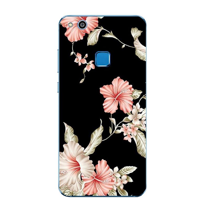 Silicone Phone Case For Huawei P10 Lite Shell For Huawei P10 Plus Back Cover Transparnet For Huawei Nova TPU Black &Amp; White