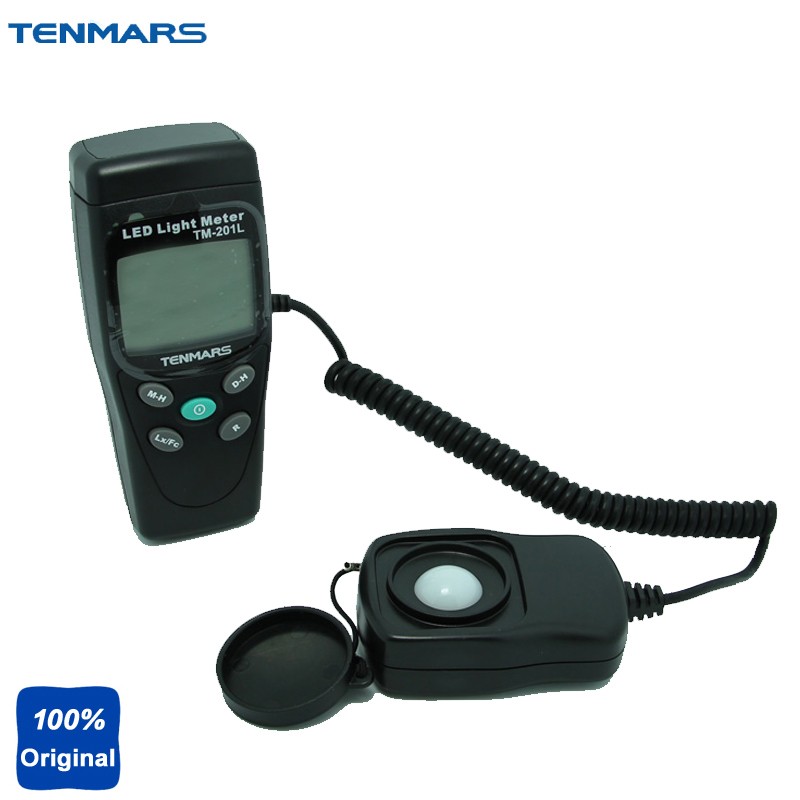 3 1/2 LCD Display Digital Lux Meter LED White Light Illumination Meter Light Meter TM-201L professional led light meter 0 1lux 200000lux 0 01fc 20000fc lcd led light digital lux meter filter lense rotate probe luxmeter