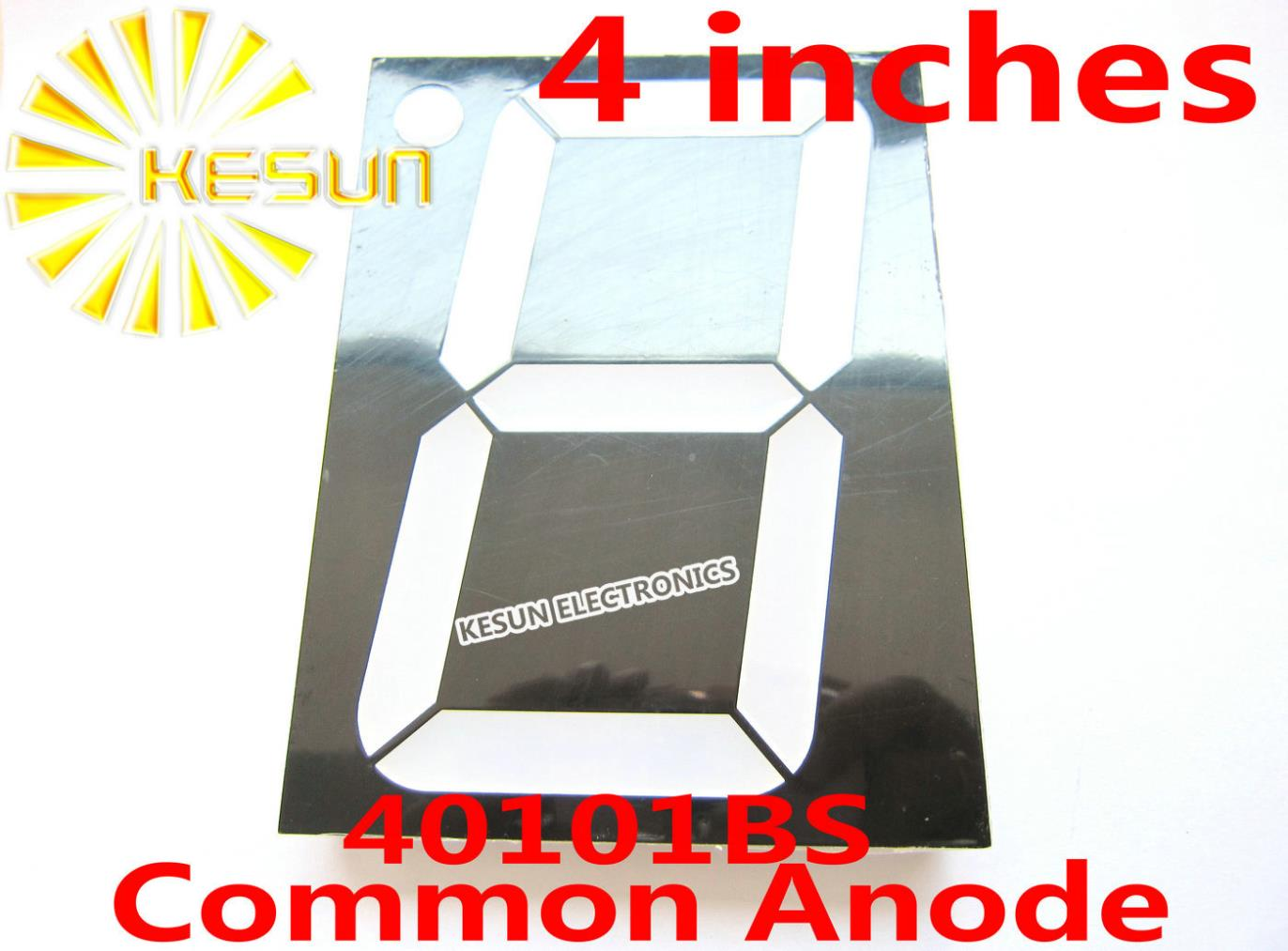 FREE SHIPPING 2PCS X 4 Inches Red 40101BS 40101AS Common Anode/Cathode Single Digital Tube LED Display Module