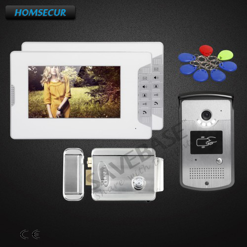 HOMSECUR 7inch Wired Video Door Intercom System with Sensor-controlled White LED Lights+Delivery From Russia