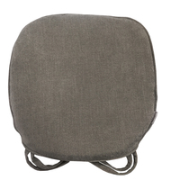 Nobildonna Gray 45 43cm Memory Foam Chenille Chair Pad With Ties Home Kitchen Office Chair Seat