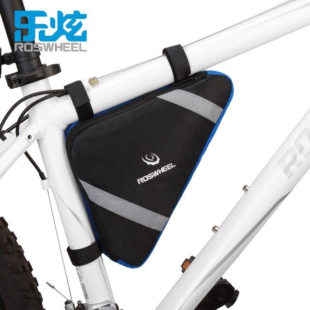 1deb974a344 ROSWHEEL bolsa de marco de bicicleta triángulo bolsa de almacenamiento de  bolsas de Ciclismo MTB bicicleta