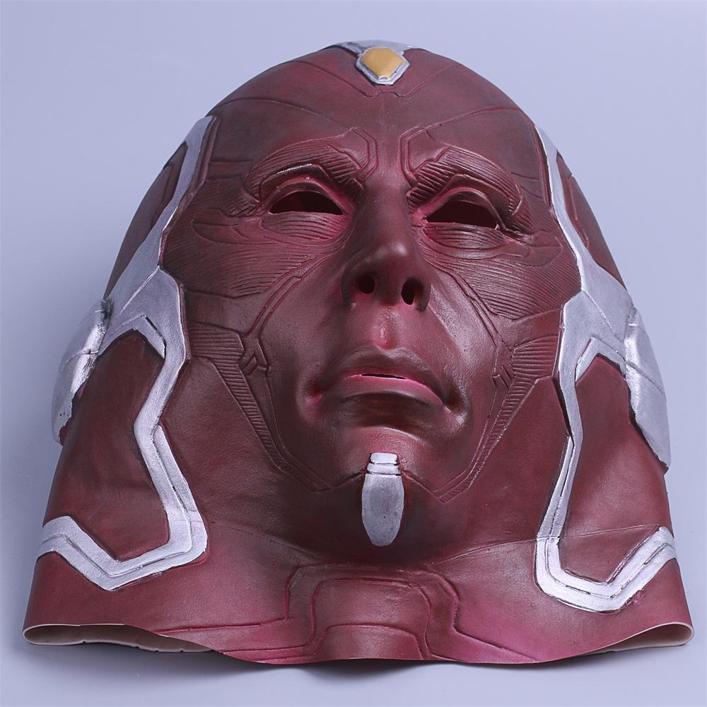 Cosplay Marvel Vision Mask Superhero Mask Full Head Halloween Helmet Latex New (9)