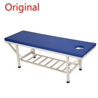 XL005 оригинальный Многофункциональный прочной нержавеющей стали складной массажные столы складной 6 ноги губка Красота кровать с полки