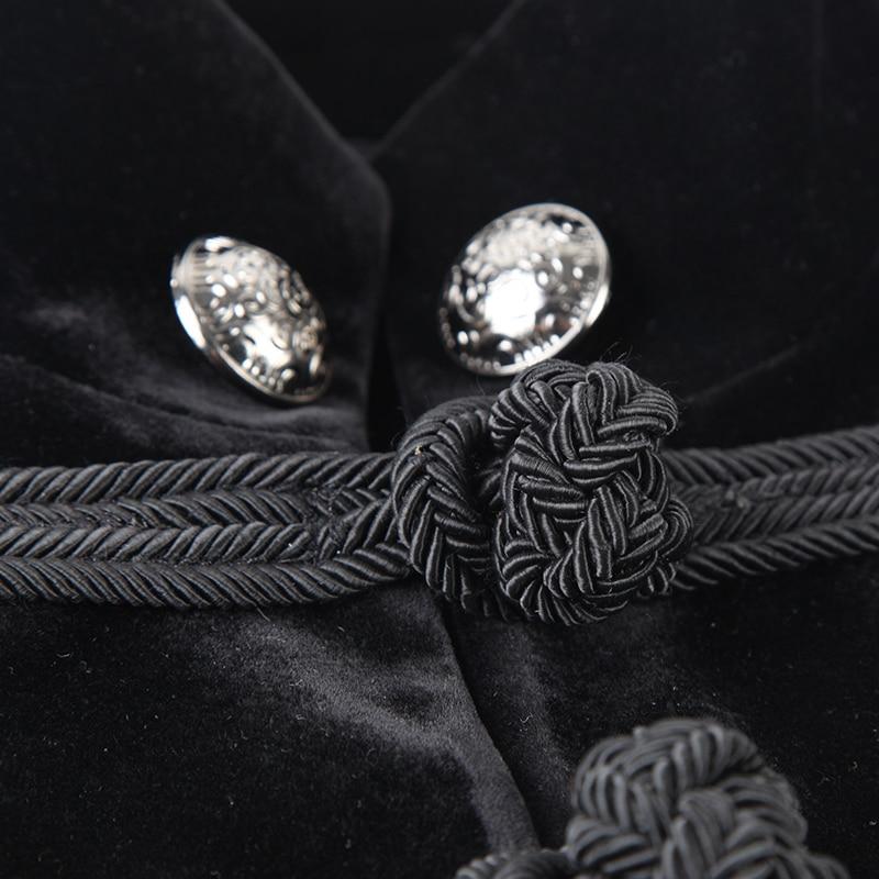 Gothic Black Noblemen Tailcoat met Chinese Knoop Knoop Victoriaanse - Herenkleding - Foto 5