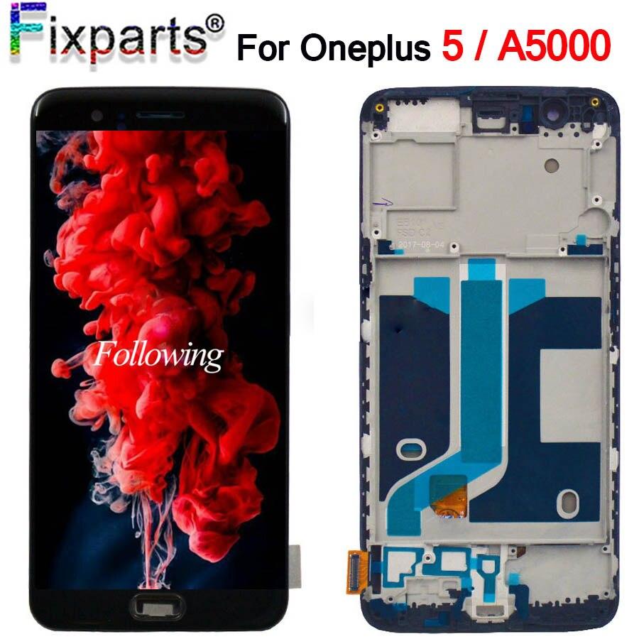 100% Tessted Oneplus 5 LCD écran de visualisation écran tactile Assemblée Complète 5.5