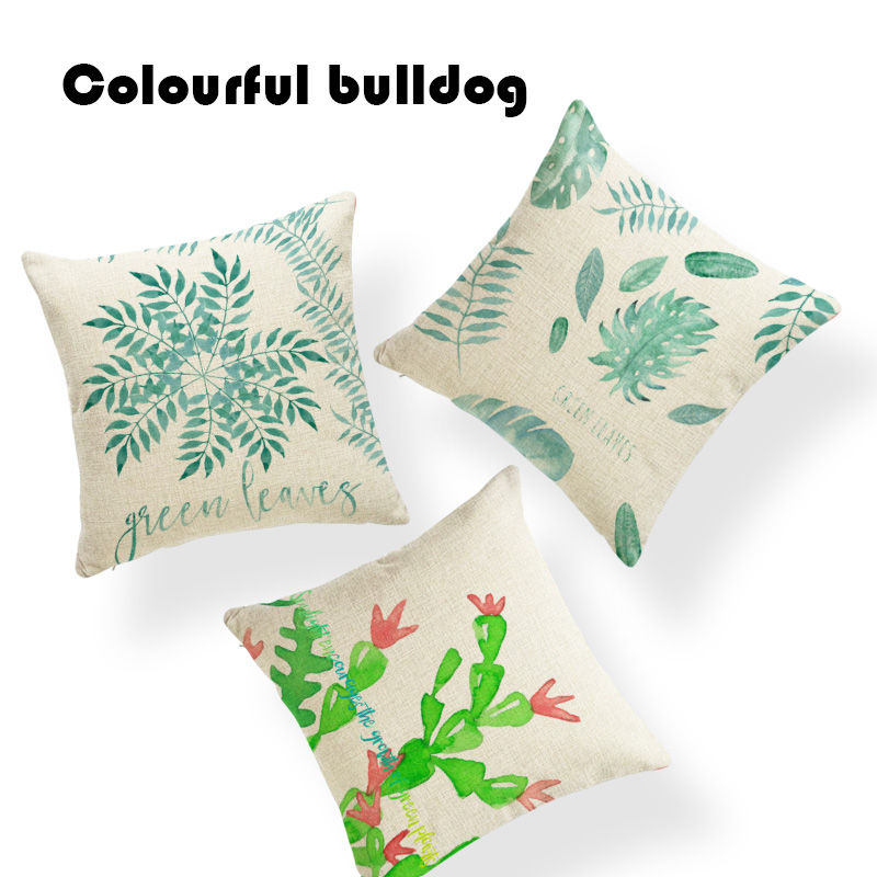 Fashion Tropical Plant Pillow Cushions Aloe Four-leaf Clover Cushion Covers Office Couch Bedroom Bed Decoration Throw Pillowcase Home & Garden Home Textile