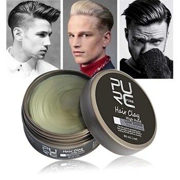 PURC Hair Styling Gel Argila para Homens Mantenha Forte Creme de Cera de Cabelo Moldagem de Acabamento Fosco Alta Hold Baixo Brilho Do Cabelo argila pomada Maquiagem