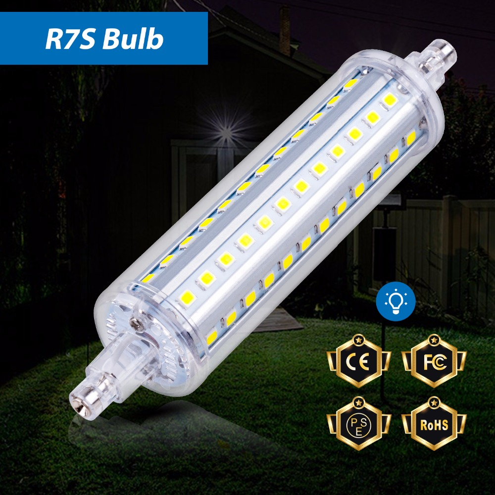 R7S LED 118mm Tube Lamp 220V 110V Light Bulb R7S LED 78mm 135mm 189mm R7S 2835 Lighting Smart IC High power led 5W 10W 15W 20W