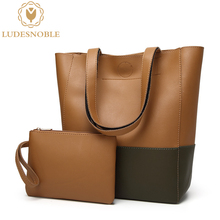LUDESNOBLE 2017 New Designer Handbags High Quality Leather Bags Women Shoulder Bag Female Solid Casual Tote