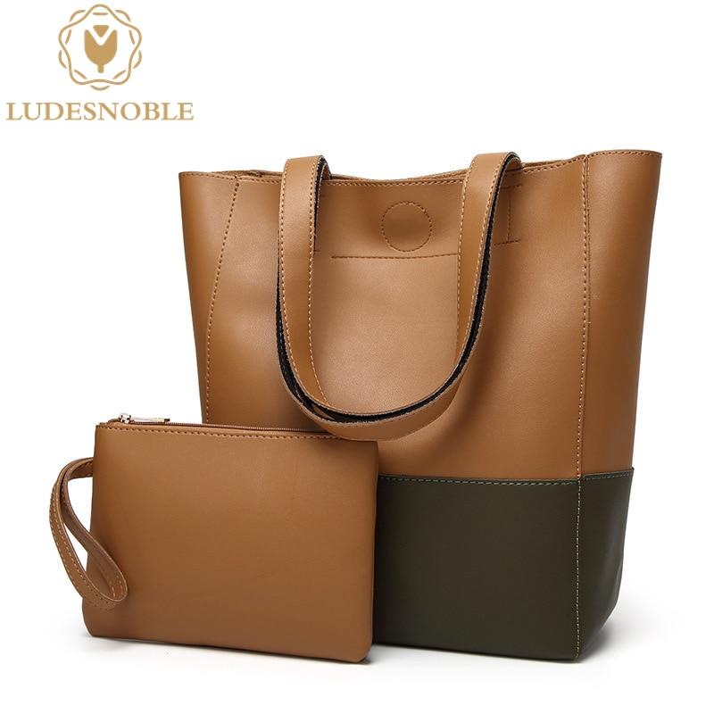 LUDESNOBLE 2017 New Designer font b Handbags b font High Quality Leather Bags Women Shoulder Bag