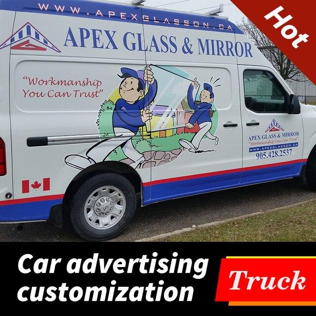 Haute qualité personnalisé personnalisé voiture Van autocollant étanche vinyle Wrap décalcomanies Auto véhicule carrosserie arrière fenêtre publicité autocollant