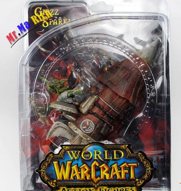 Wow Action Figure Dc Unlimited Series 6 7 Inch Gibzz Sparklighter [goblin Tinker] Wow Pvc Model Toy Free Shipping 1