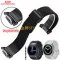 R720 Laopijiang engrenagem Samsung S2 aço pulseira sport watch strap relógio inteligente com Pulseira Esportes