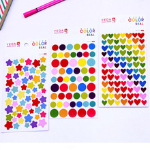 Childrens reward sticker DIY scrapbook decorative for scrapbooking 6pcs/pack photo decoration stickers